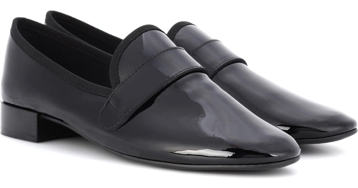7af09e52f7cea Repetto Maestro Patent Leather Loafers In Black Lyst