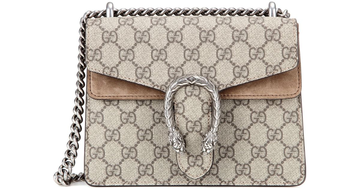 932656236fed Gucci Dionysus GG Supreme Mini Shoulder Bag in Natural - Lyst