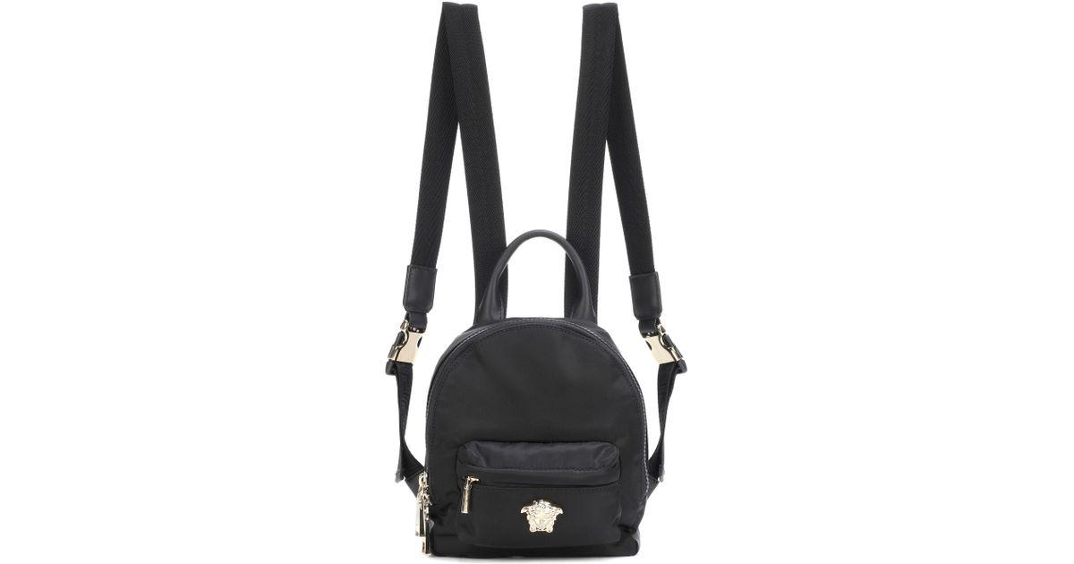 58fee31d02 Lyst - Versace Palazzo Mini Nylon Backpack in Black