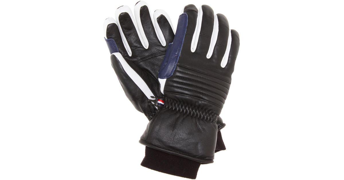 Fusalp Askel Leather Ski Gloves in Black | Lyst