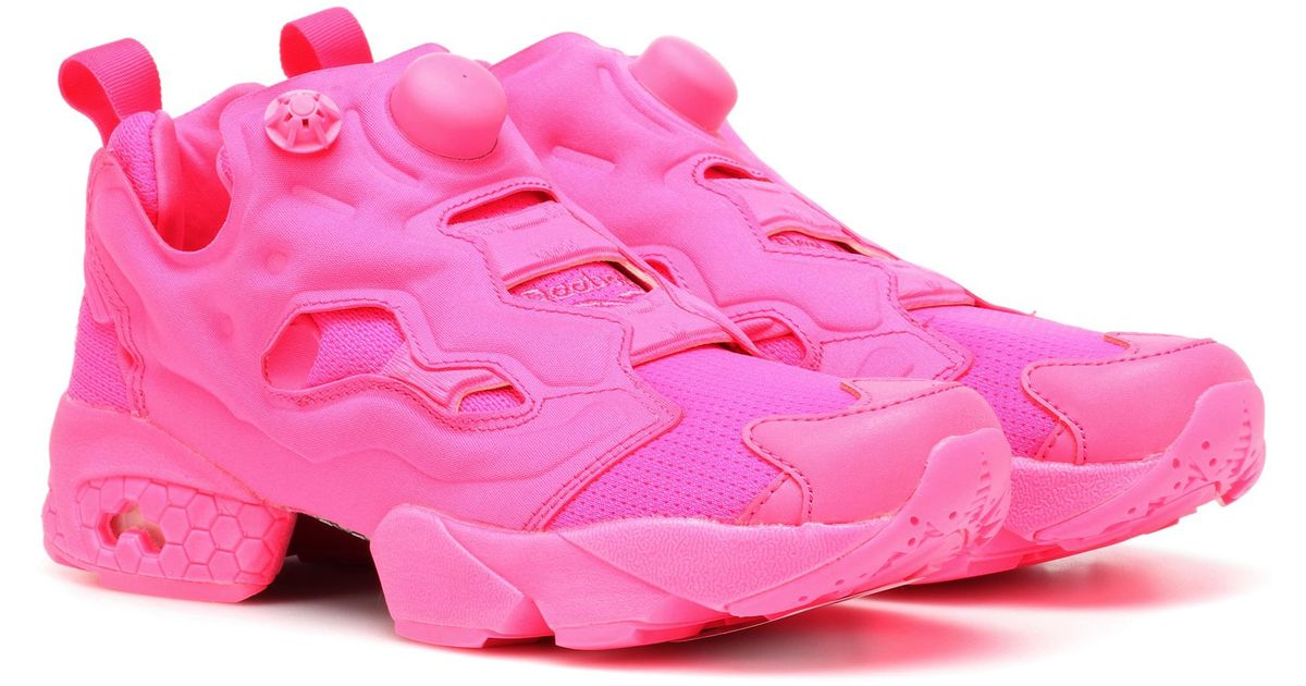 Vetements Women s Fluo Instapump Fury Sneakers - Pink - Size 40.5 (8) in  Pink - Lyst 602c3b039
