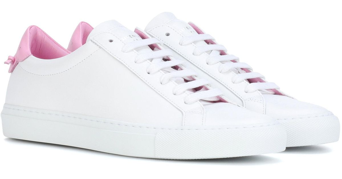 Givenchy White & Pink Urban Knots Sneakers 3HE9ziHh