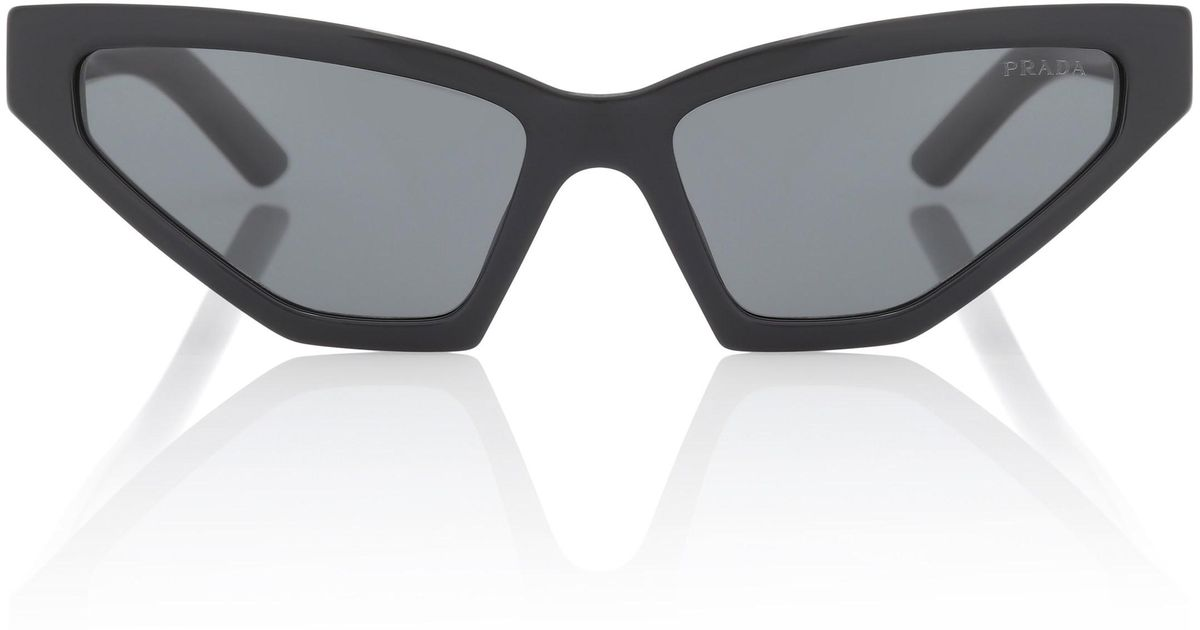 a22410066bc4f Prada Disguise Cat-eye Sunglasses in Black - Lyst