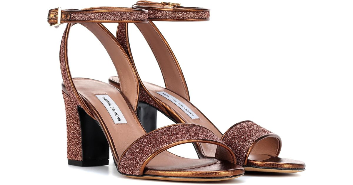 29ccaeb3825 Tabitha Simmons Leticia Metallic Sandals in Metallic - Lyst