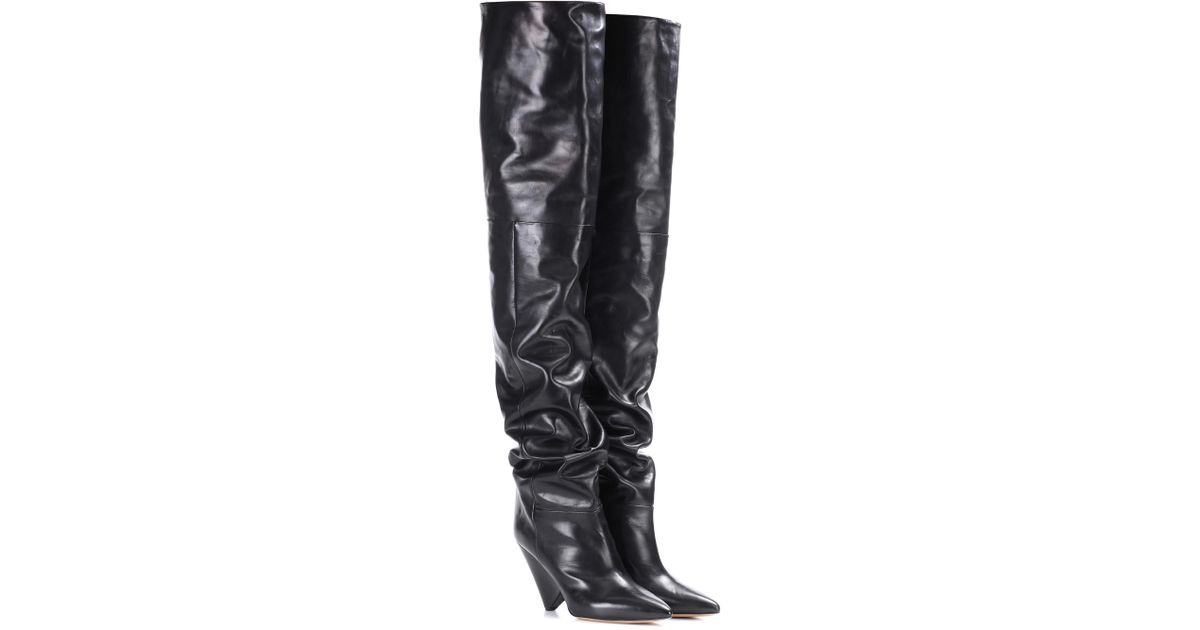 Isabel Marant Lostynn embossed leather boots 1RMQHlhNyQ