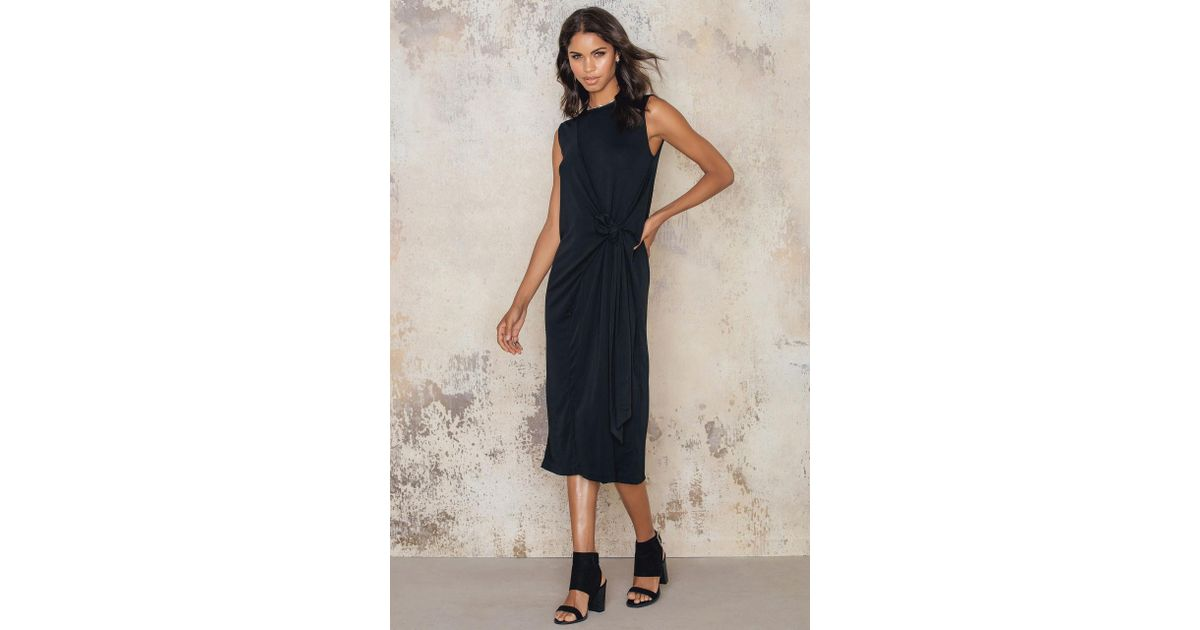Lyst - Filippa K Jersey Tie Dress in Black