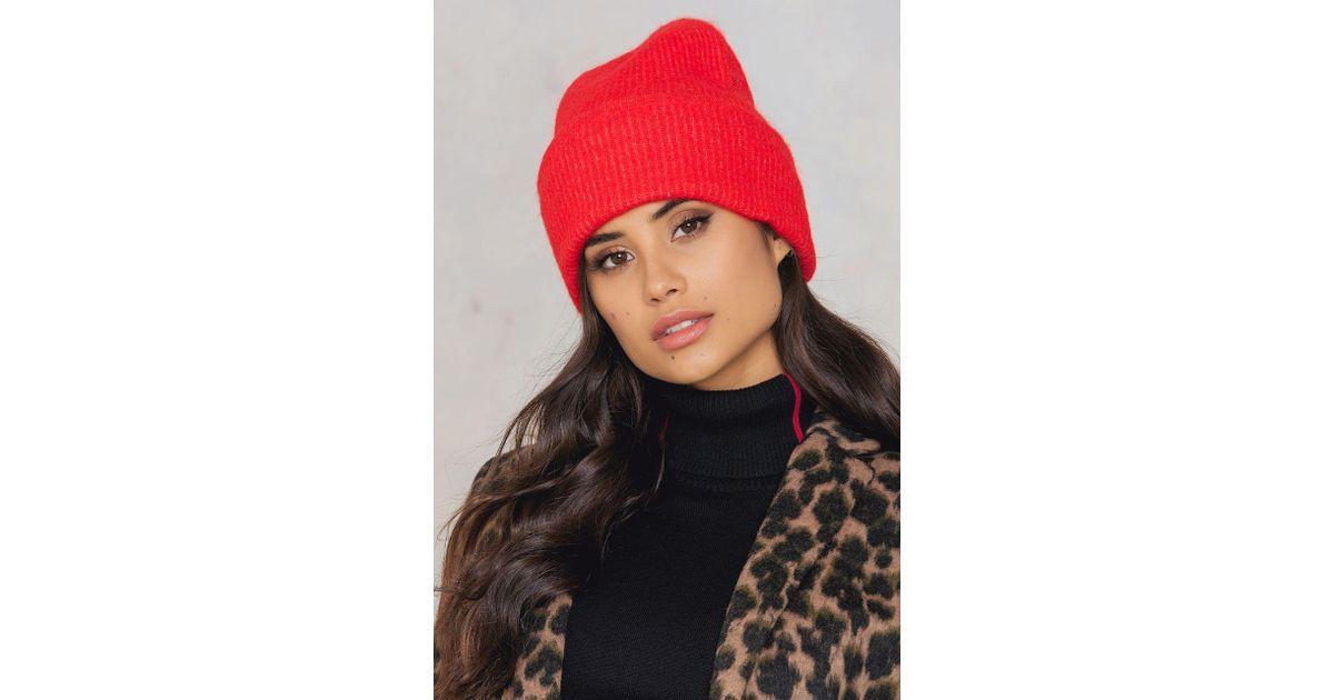78be34a5c88 Lyst - Samsøe   Samsøe Nor Hat in Red
