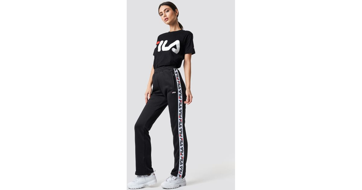 f5877ec089b9 Fila Thora Track Pants Black in Black - Lyst
