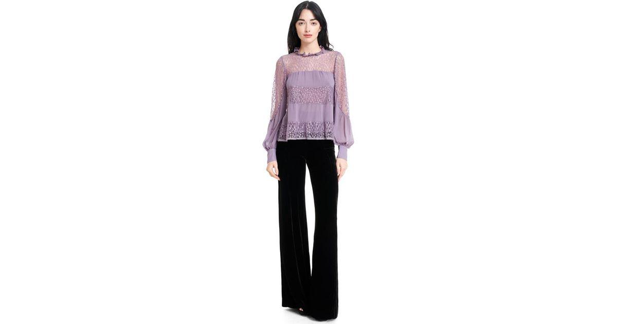 d31b3a72c5e81 Lyst - Nanette Lepore Jezebel Blouse in Purple