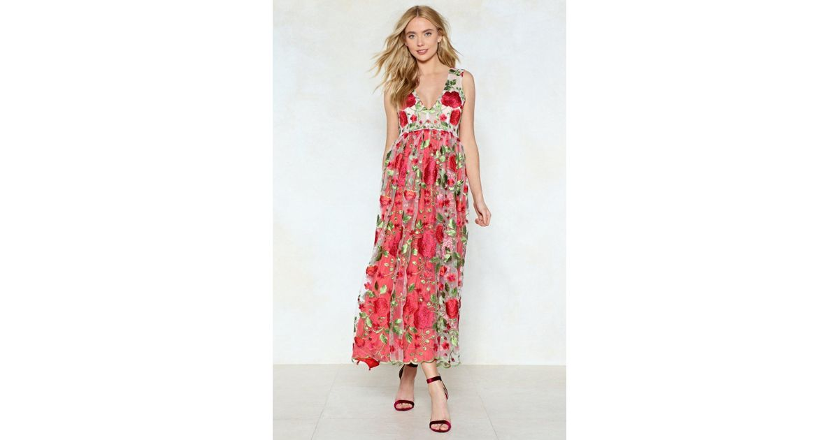 e79dd32105fb Lyst - Nasty Gal Heart And Soul Floral Dress Heart And Soul Floral Dress in  Red
