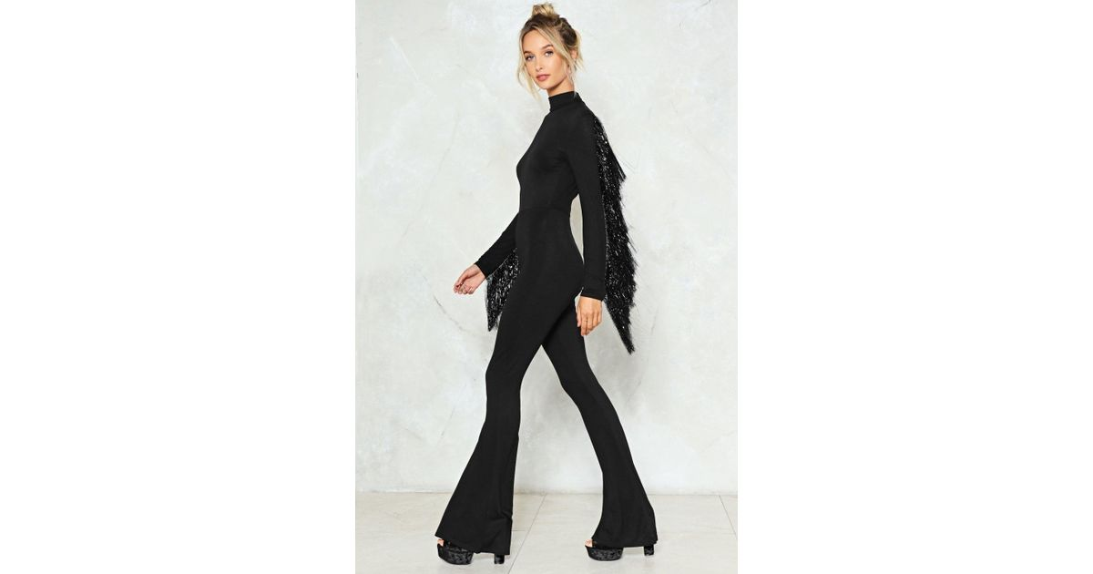 0702d9f7027 Lyst - Nasty Gal Where s The Party Tinsel Jumpsuit Where s The Party Tinsel  Jumpsuit in Black