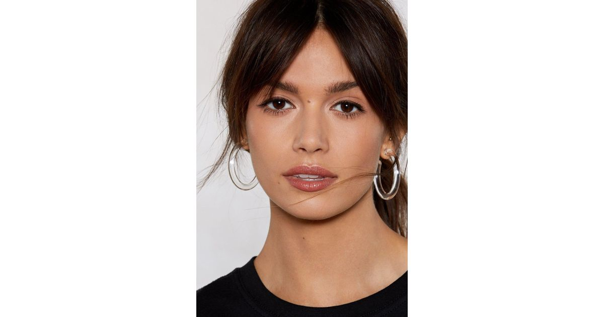 b53042918 Lyst - Nasty Gal The Coast Is Clear Hoop Earrings