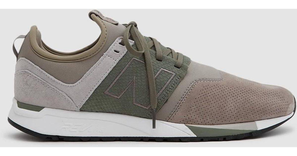 new balance green beige