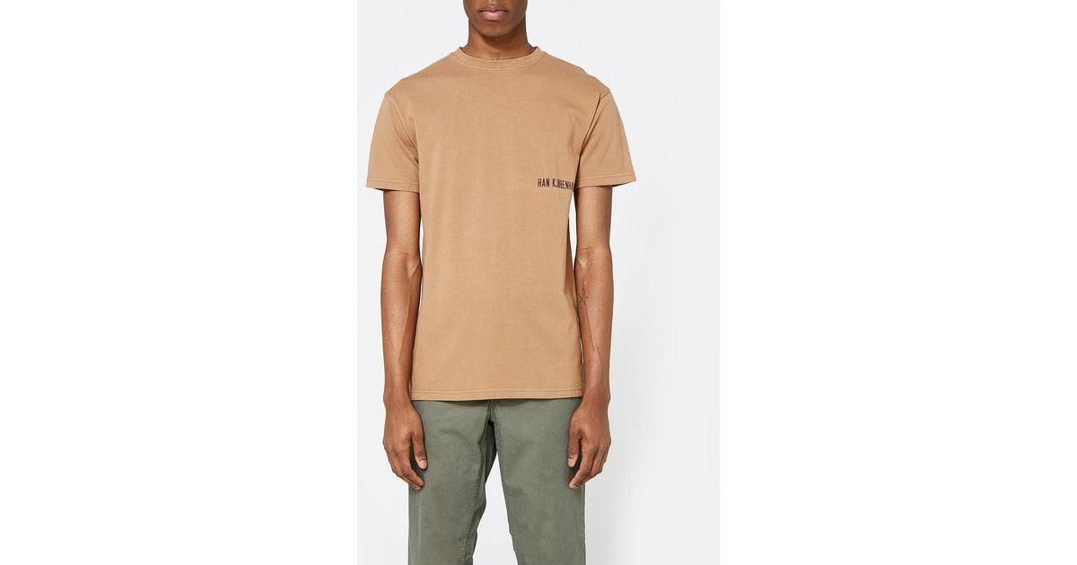 Lyst Han Kjobenhavn Casual T Shirt In Brown For Men