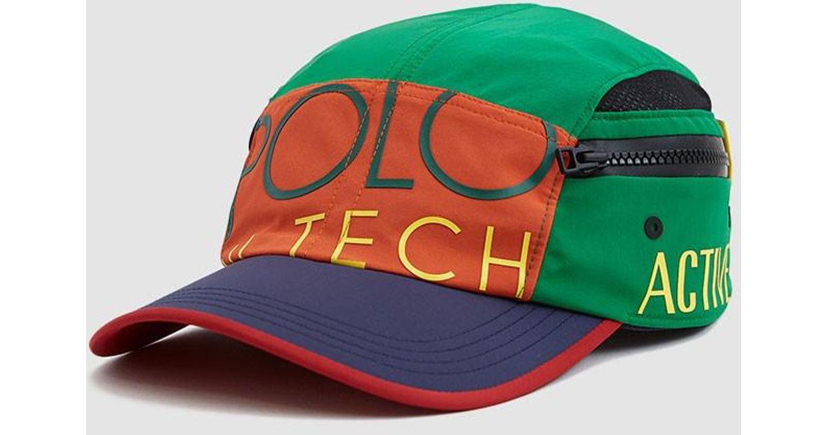 Lyst - Polo Ralph Lauren Hi-tech 5 Panel Cap in Green for Men aceb611bed9