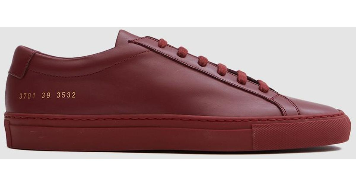 f3543b2021ce Lyst - Common Projects Original Achilles Low In Brick in Red