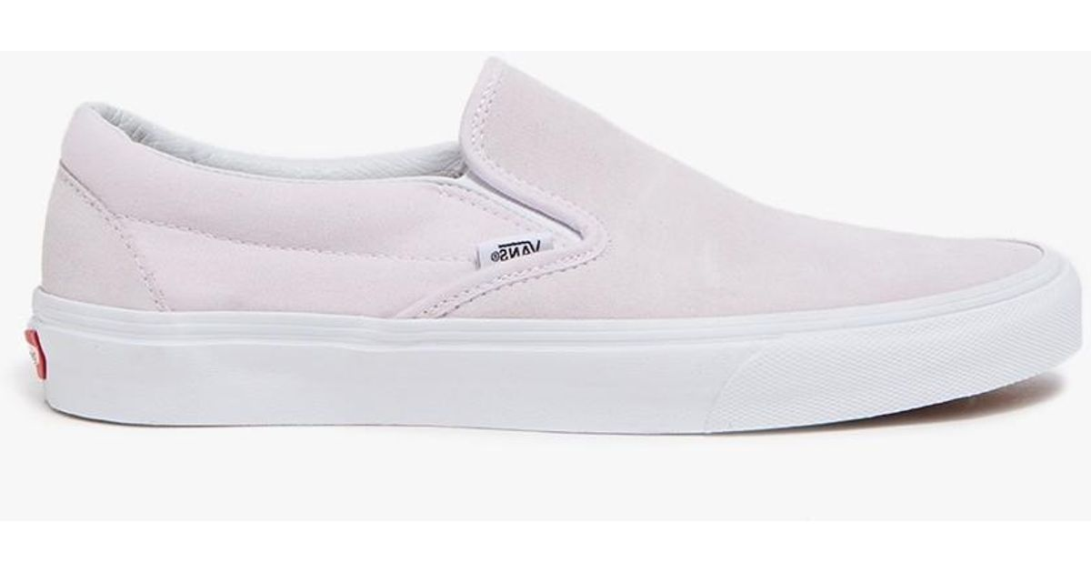 Lyst - Vans Suede canvas Classic Slip-on In Orchid Ice 2383dfeb8