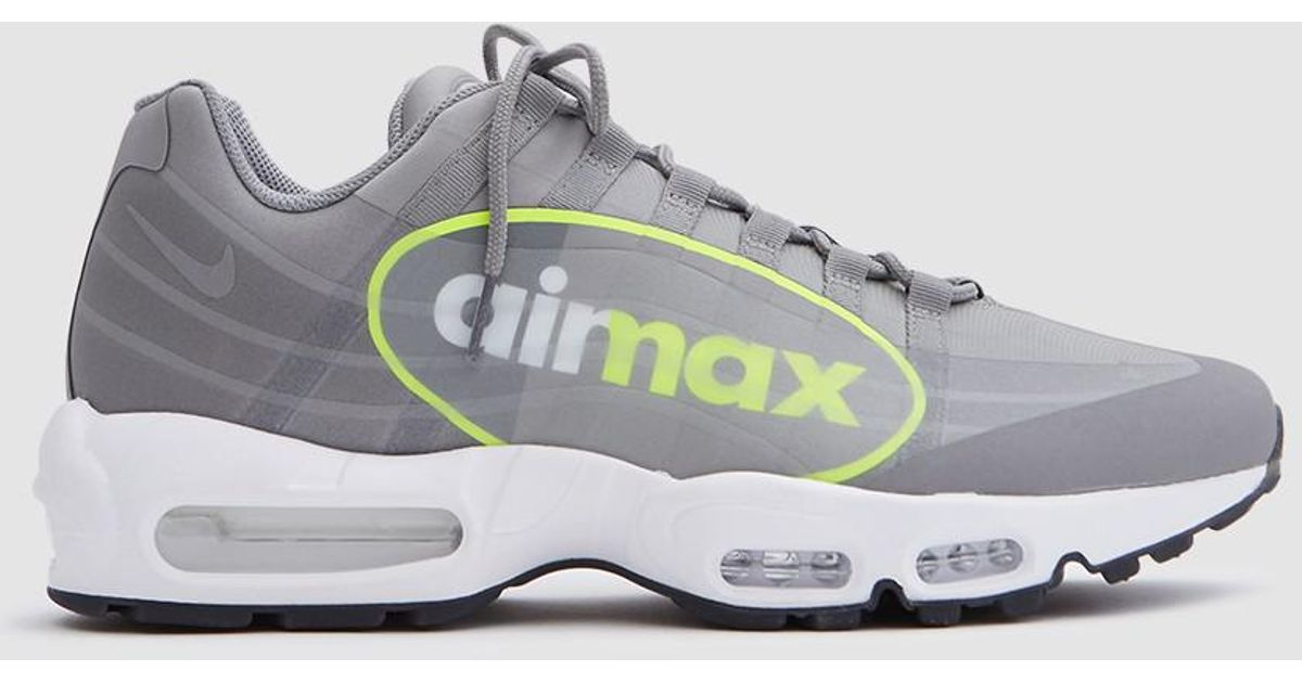 nike air max 95 big logo gpx in gray for men lyst. Black Bedroom Furniture Sets. Home Design Ideas