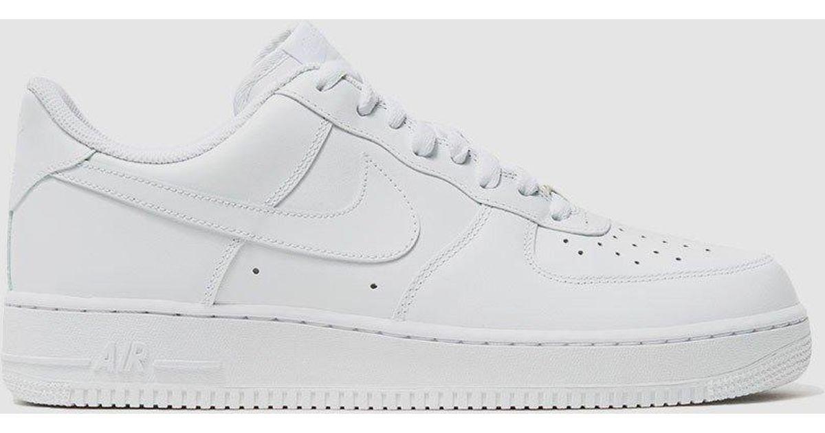 huge discount d3ee0 fdedc Nike Air Force 1  07 Sneaker in White for Men - Lyst