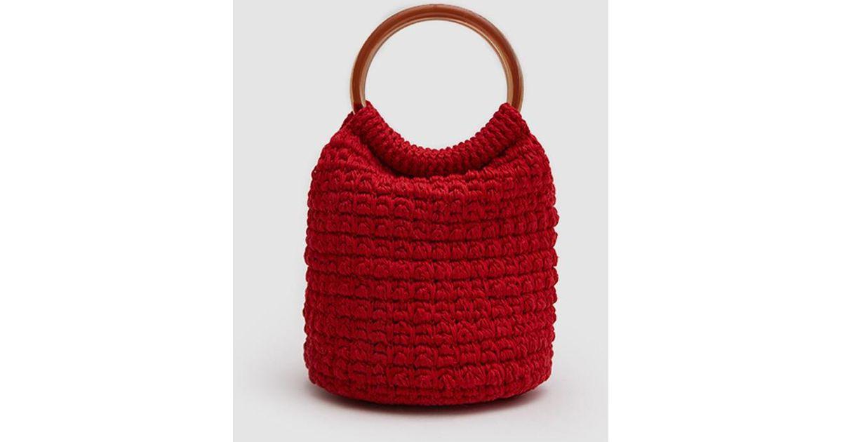 Rachel Comey Crochet Bucket Bag In Red Lyst