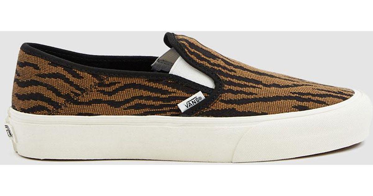 0f50c9c668 Lyst - Vans Woven Tiger Slip-on Sf Sneaker in Brown