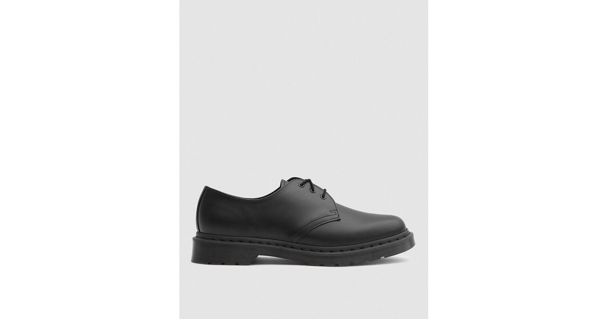 00944ce319ae6 Lyst - Dr. Martens 1461 Mono Shoe In Black in Black for Men