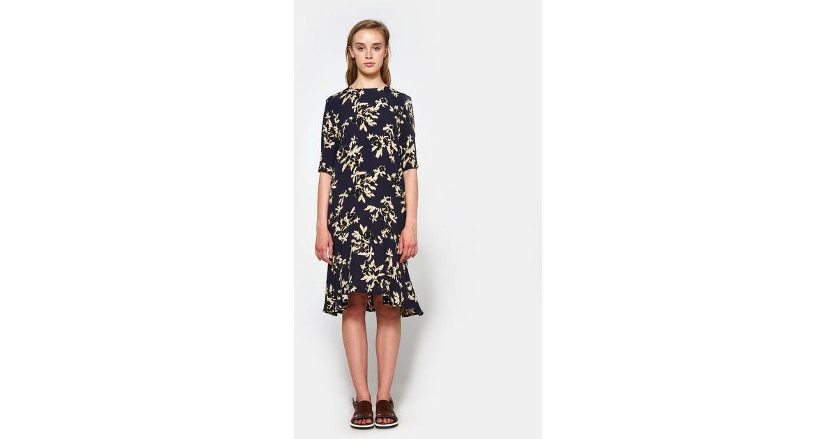 a9104741 Ganni St. Pierre Crepe Dress in Black - Lyst