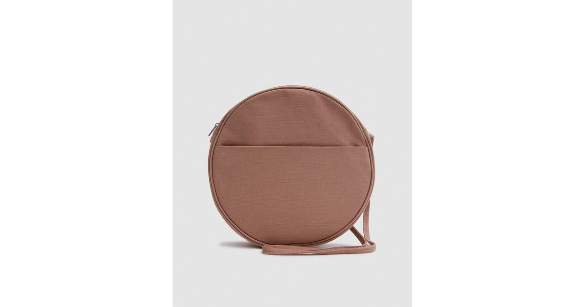 26f36d831 BAGGU Large Canvas Circle Purse In Fawn in Brown - Lyst