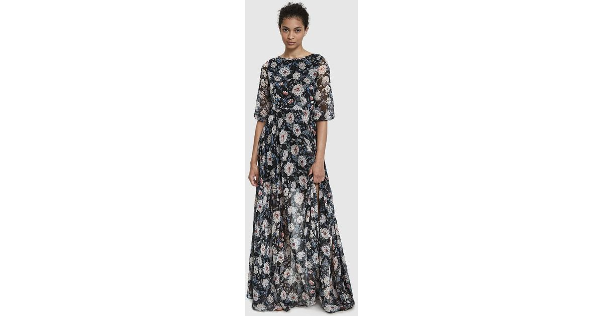 8c1776f48c06 Farrow Edith Sheer Floral Maxi Dress in Black - Lyst