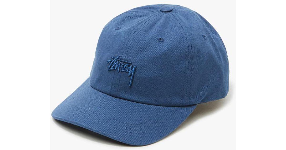 f492d1244e678 Stussy Tonal Stock Low Cap In Navy in Blue for Men - Lyst