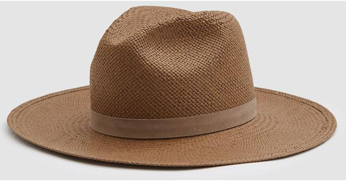 b4a34e0c80e70 Janessa Leone Adriana Packable Straw Fedora in Brown - Lyst