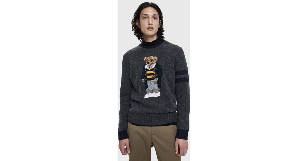d91cc89be3f Polo Ralph Lauren Teddy Bear Knitted Jumper in Gray for Men - Save 13% -  Lyst