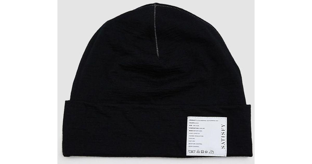 317b47ecf5b Satisfy Cloud Merino 160 Running Hat in Black for Men - Lyst