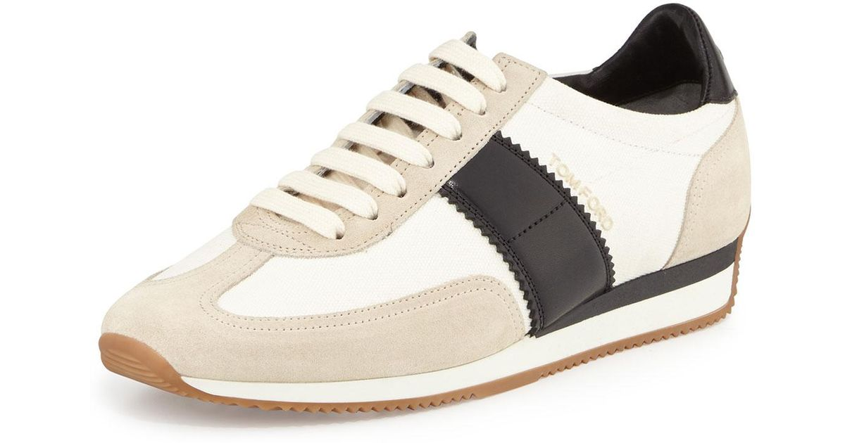 Sneaker J0974T suede beige leather brown Tom Ford VSzDt