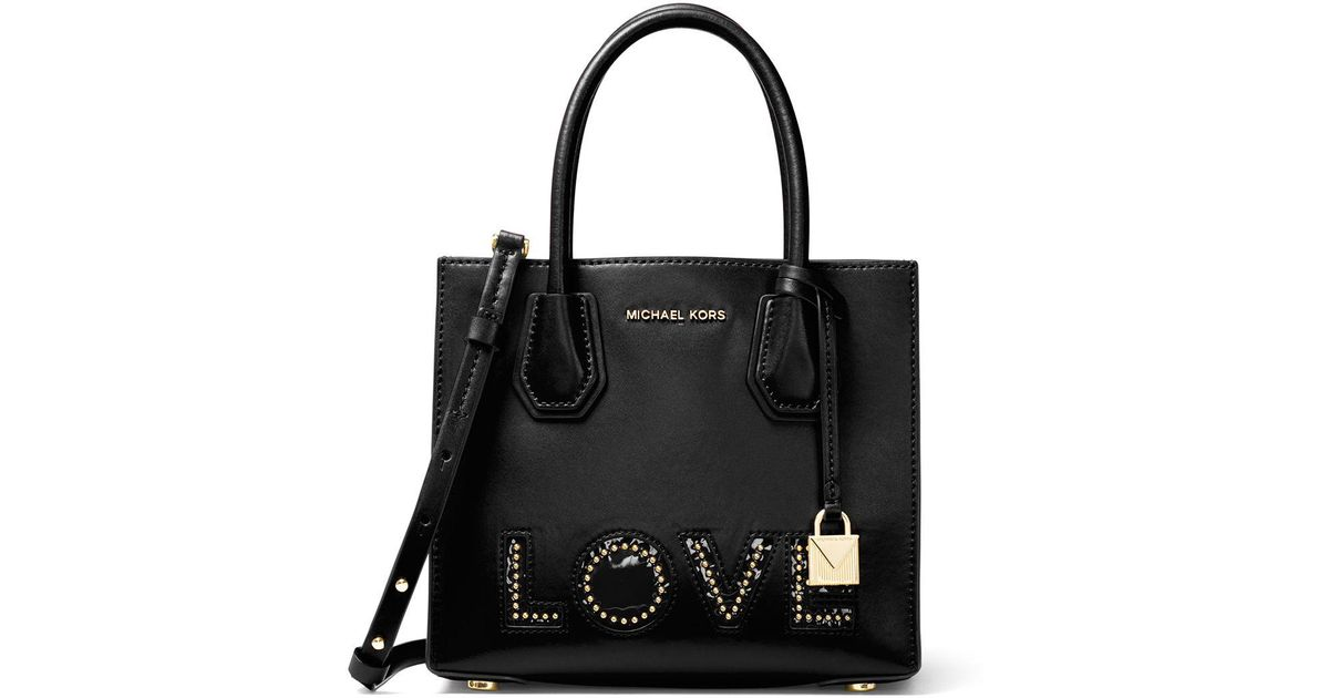 fcb34d32075002 MICHAEL Michael Kors Mercer Medium Love Polished Tote Bag in Pink - Lyst