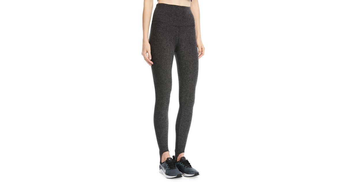 687d2a4ae5388 Lyst - Beyond Yoga High-waist Riding Stirrup Leggings in Black