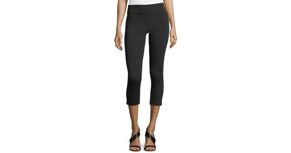 7659880f59ecde Lyst - NIC+ZOE Perfect Cropped Leggings in Black