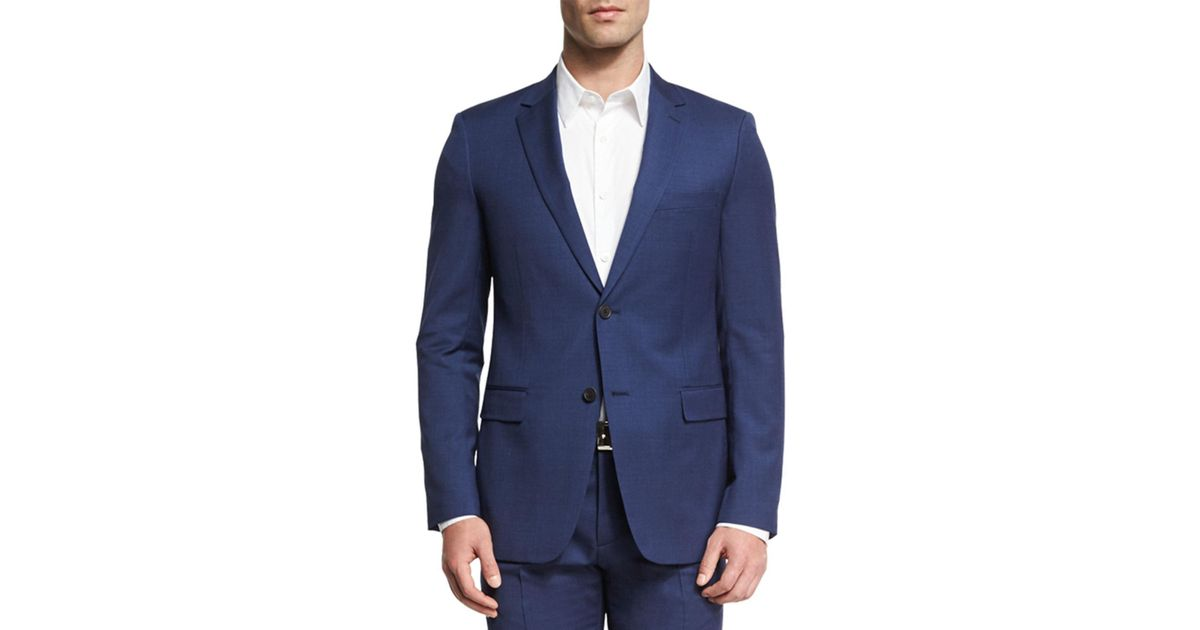 7188932e1b3 Theory Wellar Camley Slim Wool Suit Jacket in Blue for Men - Lyst