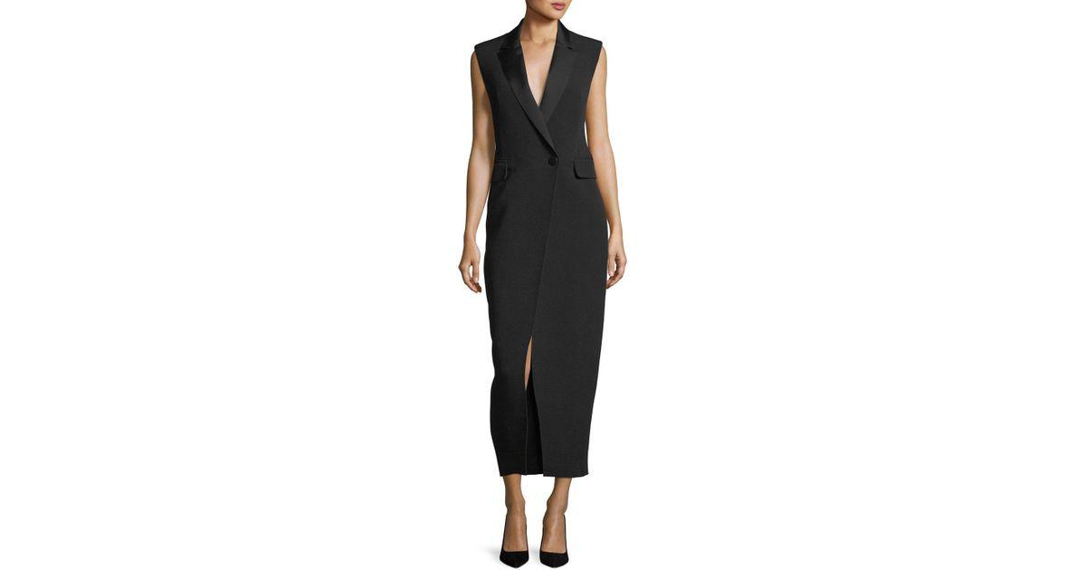6e4372776fab Camilla & Marc Abrietta Sleeveless Tuxedo Midi Cocktail Dress in Black -  Lyst