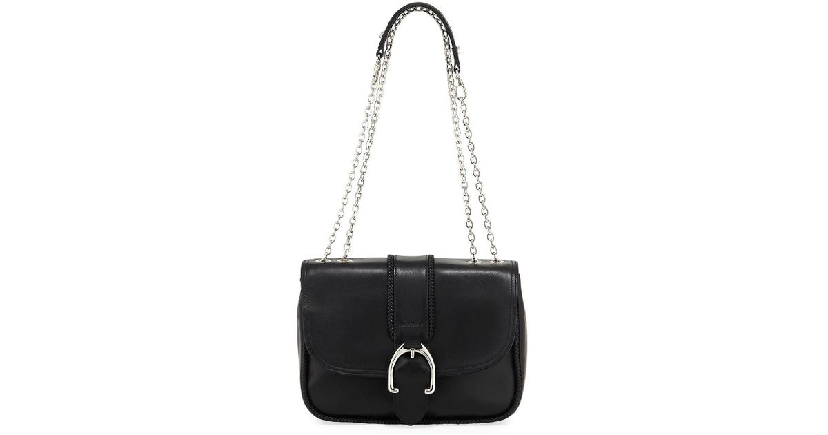 a9bc0dc31a20 Lyst - Longchamp Amazone Leather Shoulder Bag in Black