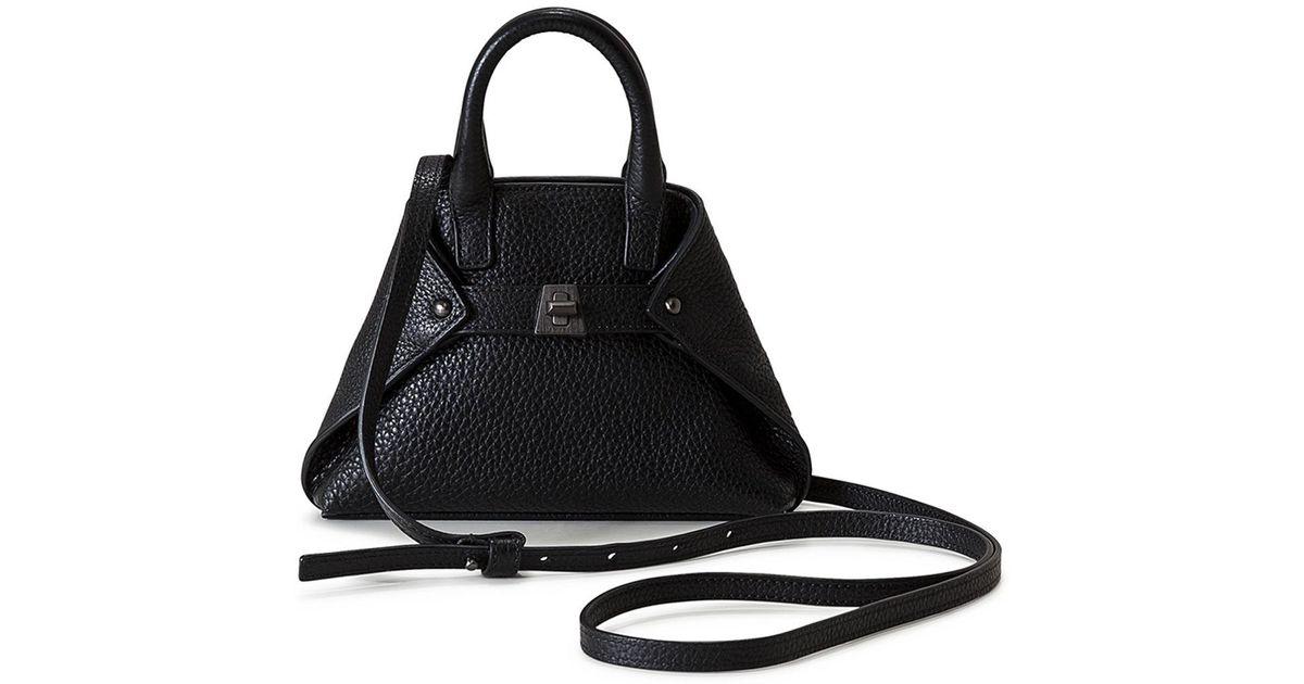 Lyst - Akris Ai Micro Leather Crossbody Bag in Blue 33db726965