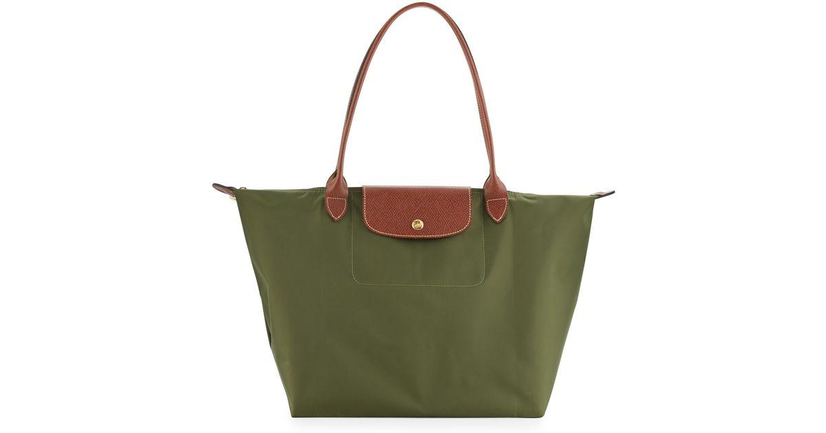 Longchamp Bag Le Pliage Australia : Longchamp le pliage large shoulder tote bag in green lyst