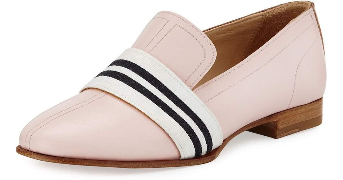 c42994ca76d Lyst - Rag   Bone Amber Striped-web Leather Loafer in Pink