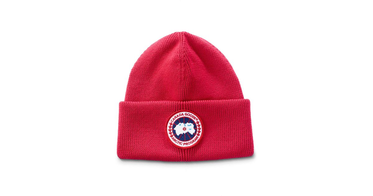 670d9204408 Lyst - Canada Goose Men s Arctic Disc Toque Knit Beanie Hat in Red for Men