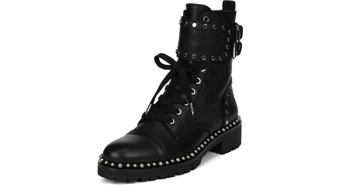 65708c7b75b6d7 Lyst - Sam Edelman Jennifer Boot Black Leather in Black - Save 46%