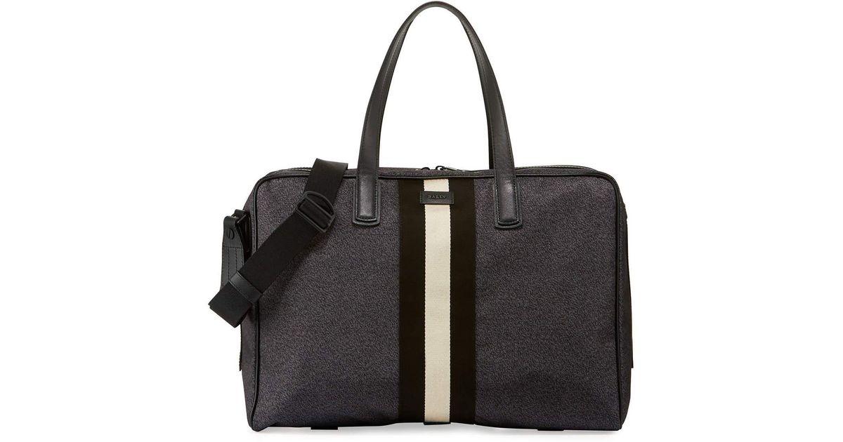 d275aff1e56 Lyst - Bally Keen Men s Nylon Weekender Travel Bag in Black for Men