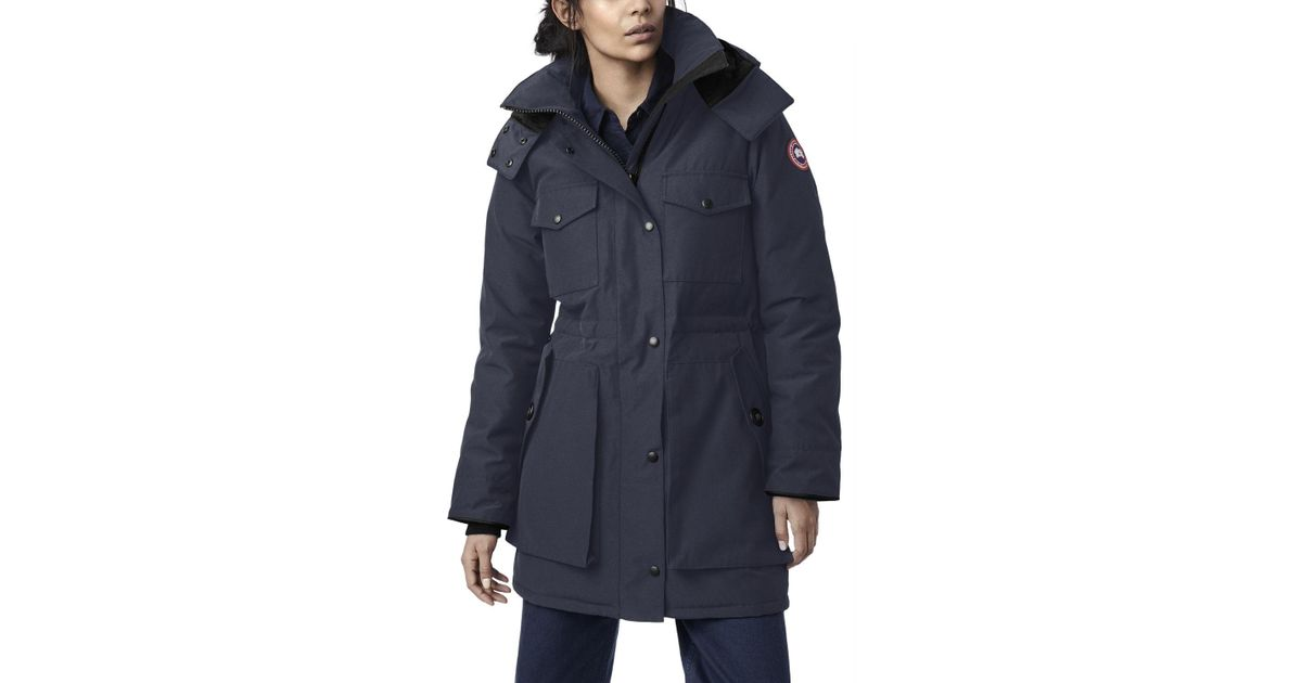 5e869a1b924 Lyst - Canada Goose Gabriola Hooded Parka Coat W/ Reflective Back in Blue
