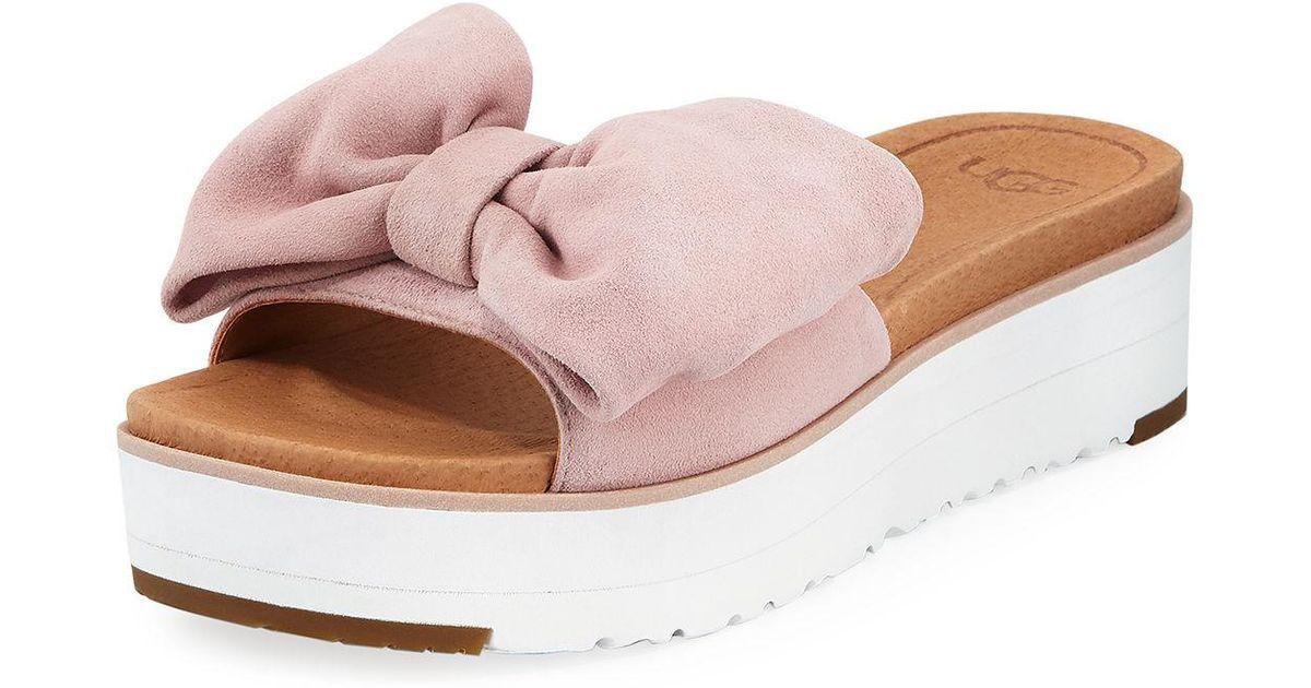 bca47f370ad Lyst - UGG Joan Platform Bow Sandal in Pink