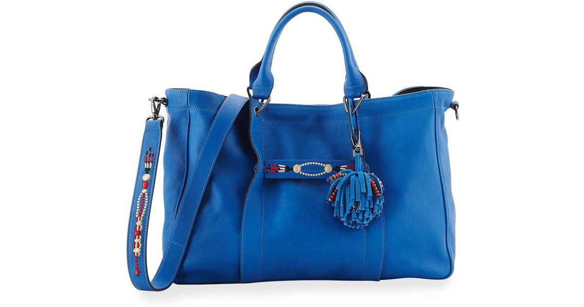 29362c9f3 Longchamp Blue 3d Massai Leather Tote in Blue - Lyst