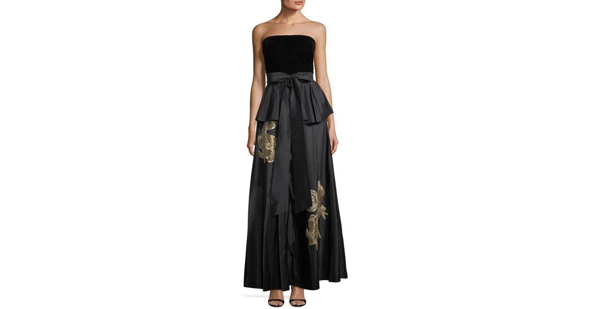 Lyst - Sachin & Babi Correra Strapless Evening Gown in Black